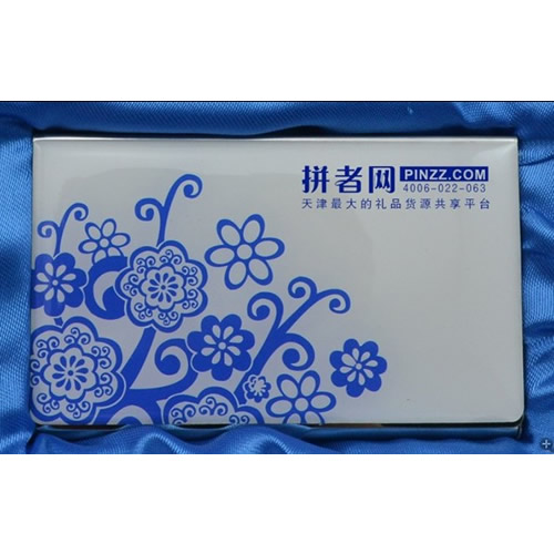 青花瓷名片盒,天津名片盒定制 可印企业标志