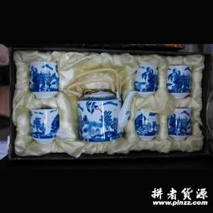青花瓷茶具礼盒套装 天津商务亚博体育官方登陆首选