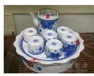 青花瓷玲珑茶具