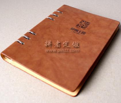 天津仿皮PU记事本定制天津本册定制、32开活页本