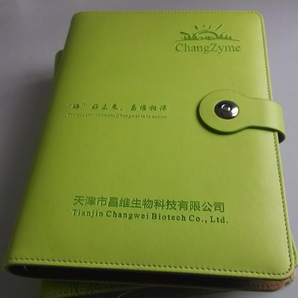 天津定做记事本厂家 为生物制药企业 定制活页笔记本 32开