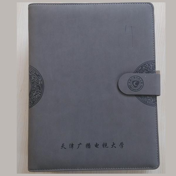 天津定做笔记本的厂家,为天津广播电视大学定制记事本,16开活页本
