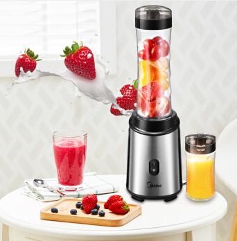 美的(Midea)料理机随行杯便携式双杯 多功能家用食品级材质可榨汁搅拌机WBL2501A