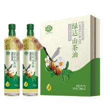 绿达6清有机冷榨山茶油750ml*2礼盒装
