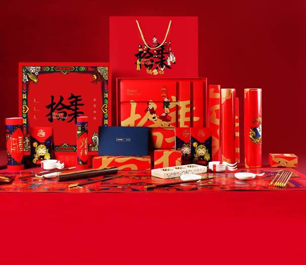 清朴堂 拾年味新年礼盒商务送礼五双碟筷套装