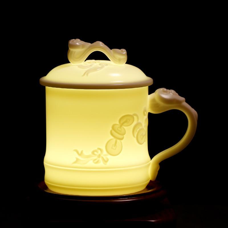 商务亚博体育官方登陆 高档羊脂玉瓷 德化白瓷 中国白 办公杯会议杯水杯 可定制
