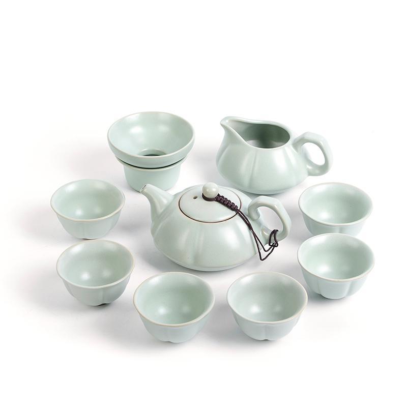 汝窑功夫茶具套装 汝瓷陶瓷泡茶礼盒装1盒